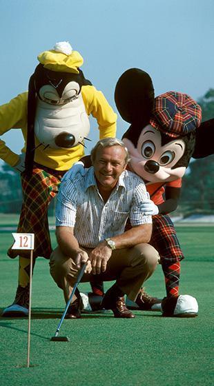 Mickey Goofy Arnold Palmer Puttting Green optimized 2