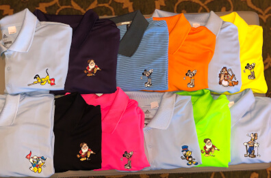 Character Inspired Golf shirts